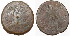 Ancient Coins - EGYPT ALEXANDRIA PTOLEMY II PHILADELPHOS 285-246 BC BRONZE  71 gr - 41 mm