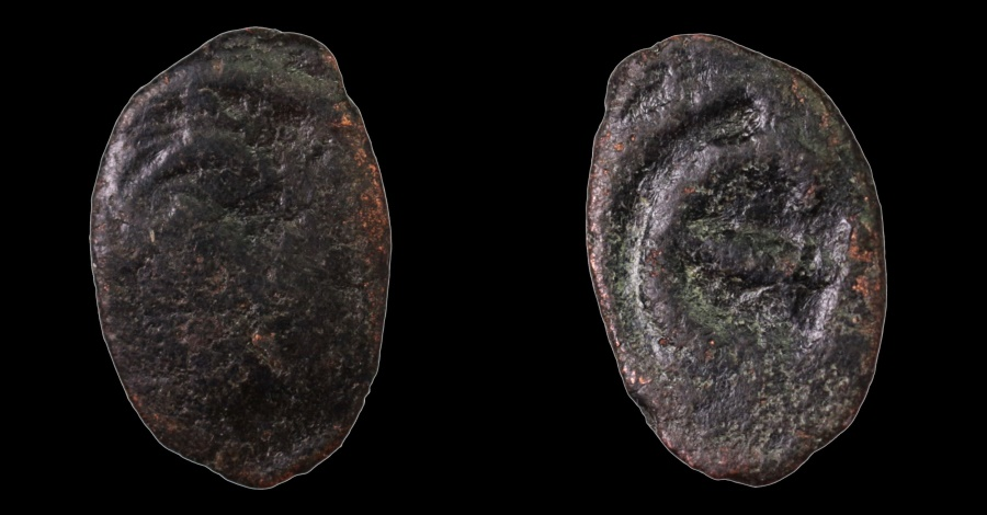 Ancient Coins - Justinian I. 527-565 AD. AE Pentanummium. Thessalonica.