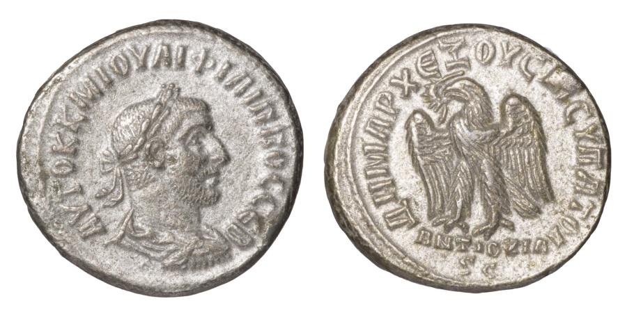 Ancient Coins - SYRIA.  PHILIP I. 244-249 AD. TETRADRACHM Struck 248-249 AD Seleucis and Pieria.