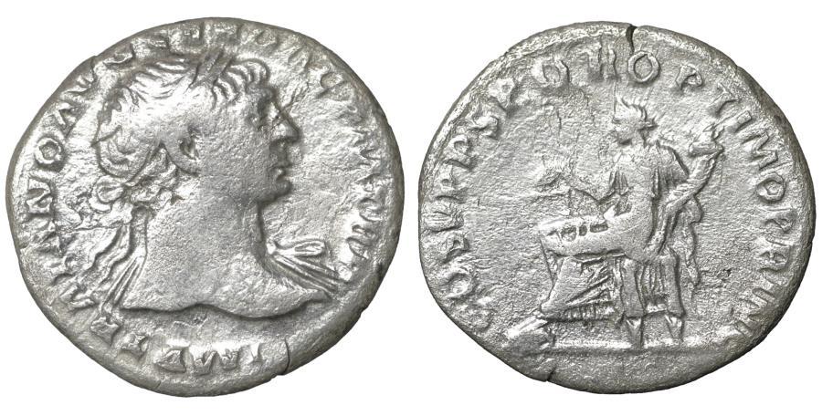 Ancient Coins - TRAJAN (98-117). Denarius. Rome. Aequitas  VF+