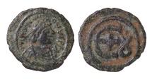JUSTINIAN I. 527-565 AD. AE PENTANUMMIUM. 5 NUMMI. Mint of Theoupolis (Antioch). EF