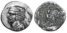 KINGS of PARTHIA. Orodes II. 57-38 BC. AR Drachm VF