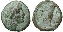 Ancient Coins - Sicily Alaisa Archonidea 204-200 BC. Bronze Rare aXF