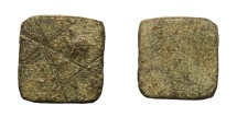 Ancient Coins - Roman empire. Bronze weight. Late 3rd century. 2,5 gr. – 11x11 mm