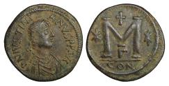 Ancient Coins - JUSTINIAN 527-565 Follis Constantinople High Grade for this issue. UNC