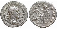 Ancient Coins - Maximinus I Thrax 235–238 Silver denarius Bust \ Salus XF