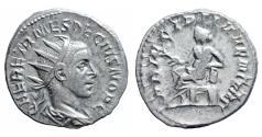 Ancient Coins - Herennius Etruscus 251 AD AR Antoninianus RARE VF/EF