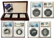 """World Coins - 3 Piece Lot of Certified NGC Proof 70 Ultra Cameo """"Shark Week"""" Issues 2015 PR70 Cameo NGC"""