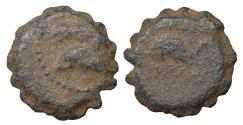 Ancient Coins - Seleukid Kingdom Demetrios I Soter 162-150 BC Serrate AE aVF