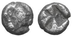 Ancient Coins - Ionia Kolophon AR Obol VF+ Silver greek coin