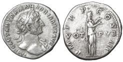 Ancient Coins - Hadrian. 118–137 AD. Denarius. Pietas \ X
