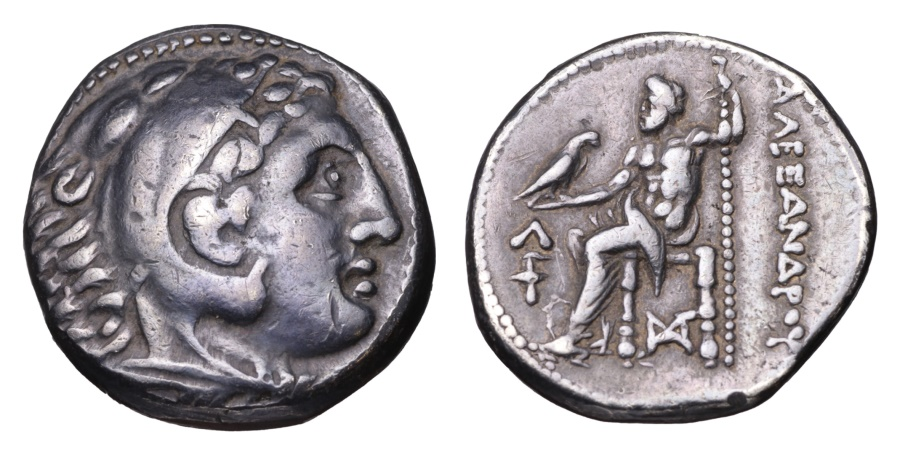 Ancient Coins - MACEDONIA Alexander III the Great AR Tetradrachm Amphipolis mint 315-294