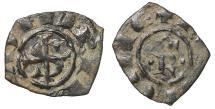 World Coins - Kingdom of Sicily Manfred Denar Messina VF\XF