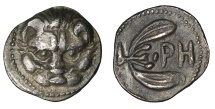 BRUTTIUM, Rhegion. Circa 415/0-387 BC. Litra XF