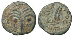 Ancient Coins - JUDAEA, Procurators Coponius under Augustus. 5/6 AD. Æ Prutah Well centered. aXF