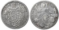 World Coins - Papal States Pope Clement XIII 1758-1769 1/5 Scudo 1759 Scarce XF\UNC