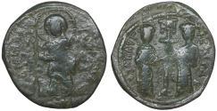 Ancient Coins - Constantine X Ducas and Eudocia AD 1059-1067 Constantinople Follis VF+