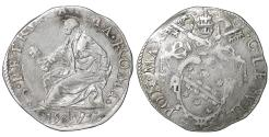 World Coins - Papal States ROME Pope Clement VIII 1592-1605 Testone 1593 Rare XF+