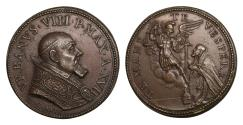 World Coins - Papal States Urbano VIII 1623-1644 Bronze medal 1639  Lifetime issue Rare Mint State