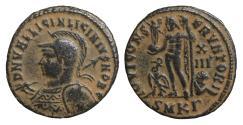 Ancient Coins - Licinius II son of Licinius I as Caesar Æ Nummus Heraclea AD 321-324 aUNC