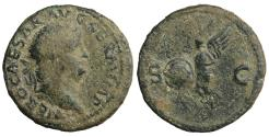 Ancient Coins - Nero, 54-68. As. Rome Victory Rare. VF+