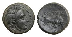 Ancient Coins - Seleukid Kingdom Seleukos I Nikator 312-281 BC Bronze XF\UNC