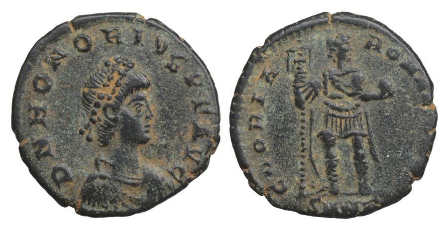 Ancient Coins - Honorius 393-423 AD Maiorina GLORIA ROMANORVM XF+ \ Roman Coins