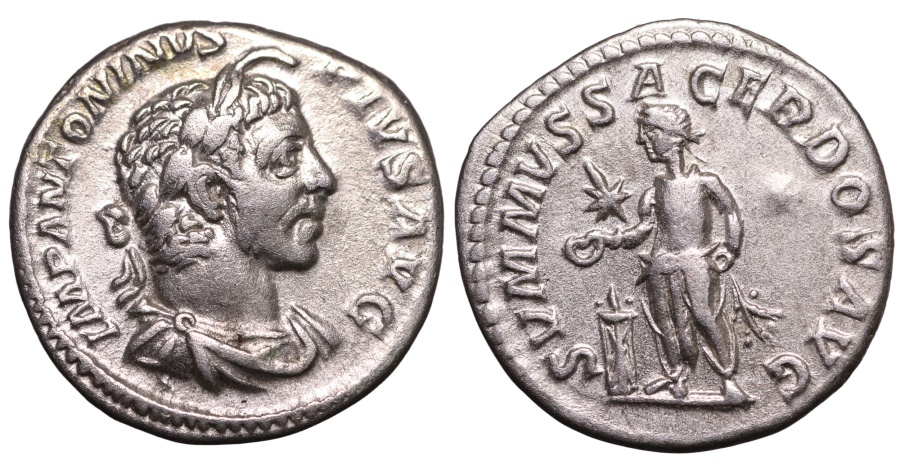 Ancient Coins - ELAGABALUS 218-222 AD. DENARIUS. EXTREMELY FINE GOOD PORTRAIT