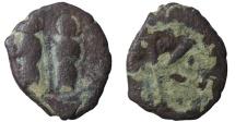 World Coins - ISLAMIC. PRE UMAYYAD. Joseph & Sophia type, ca. 670-700, AE ½ fals. aVF, RR
