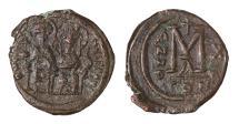 Ancient Coins - Justin II Follis, struck 564/565. Mint of Constantinople