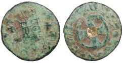 Ancient Coins - AXUM King Ebana 430-460 Bronze Rare VF+ gilt on reverse