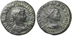 Ancient Coins - Vabalathus & Aurelian. AD 271-272. AE antoninianus aXF