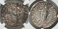 World Coins - NGC VF Venice Alvise Mocenigo I 1570-1577 40 Soldi St Justina