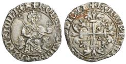 World Coins - Italy Naples Roberto d'Angiò. Gigliato 1309-1343 AD XF+