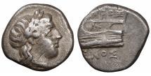 Ancient Coins - Bithynia. Kios circa 350-300 BC. Diobol. \ XF \ greek coin