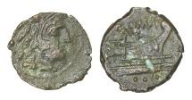 Ancient Coins - ROMAN REPUBLIC ANONYMOUS 169-158 BC QUADRANS RARE AE 2.45 gr