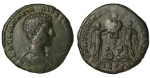 Ancient Coins - Diadumenian Caesarì 218AD AE27 Mint of Nikopolis ad Istrum VERY RARE. VF+