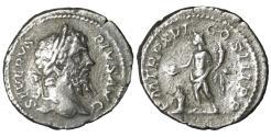 Ancient Coins - Septimius Severus Limes Denarius Struck 208 AD Rare Roman coin
