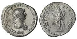 Ancient Coins - Trajan. Denarius. 116.117 AD \ Felicitas \ VF/XF