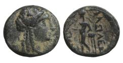 Ancient Coins - Seleukid Kingdom Antiochos Hierax Bronze 242-227 BC VF\XF