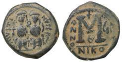 Ancient Coins - JUSTIN II 565-578 AD Æ Follis aXF \ Byzantine coins