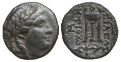 Ancient Coins - Seleukid Kings of Syria Antiochos II Bronze XF+ Apollo \ Greek Coins