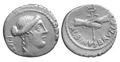 Ancient Coins - Junia D. Iunius Brutus Albinus AR Denarius Rome 48 BC XF+ \ Roman Republic