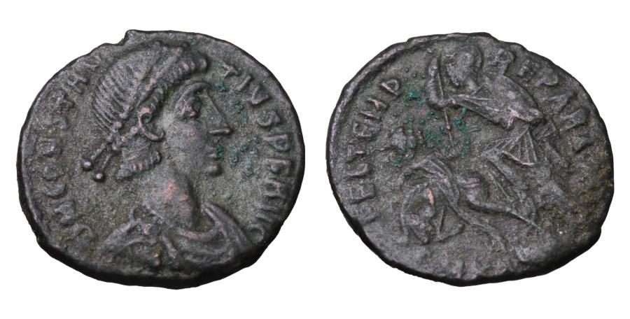 Ancient Coins - CONSTANTIUS GALLUS. 351-354 AD. CENTENNIONALIS.  FEL TEMP REPARATIO