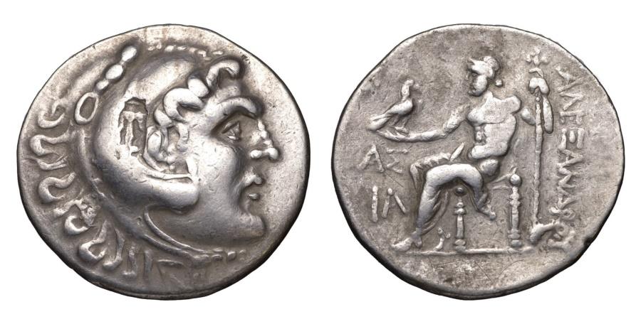 Ancient Coins - ALEXANDER III THE GREAT. 336-323 B.C. TETRADRACHM. PAMPHYLIA ASPENDOS. 212-182 B.C