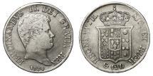 World Coins - Italy Sicily Ferdinando II Bourbon (1830-1859). Piastra 1834
