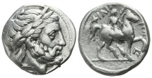 Ancient Coins - XF Macedon. Amphipolis. Philip II. 359-336 BC. Tetradrachm
