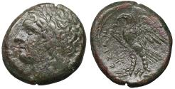 Ancient Coins - SICILY, Syracuse. Hiketas. 287-278 BC. Bronze. VF\XF
