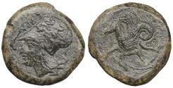Ancient Coins - SICILY, Syracuse. Circa 390 BC. Æ Litra XF
