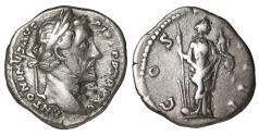 Ancient Coins - ANTONINUS PIUS 138-161 AD AR Denarius Fortuna VF+